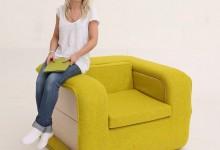 多功能带扶手折叠椅:flOP