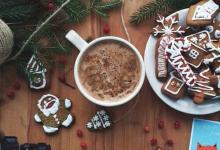30个创意的快乐圣诞节食物照片