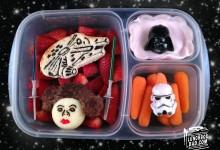 小朋友带去学校的创意的午餐便当