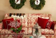 65个创意的圣诞节客厅装饰想法
