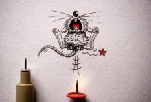 小老鼠Rikiki的趣味插画