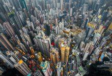 香港高度密集的城市景观摄影