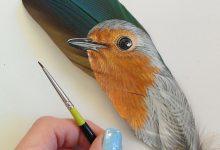 如果我喜欢在精致的羽毛上作画