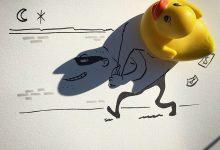 10张创意的影子涂鸦艺术作品欣赏