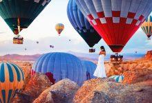 浪漫迷人的热气球摄影照片