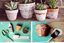 40个漂亮创意的DIY花盆作品