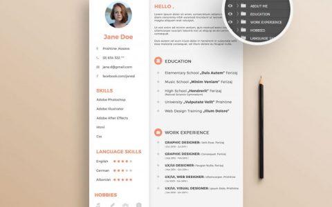 25个免费下载的创意简历模板资源
