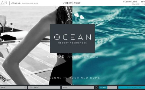 10个漂亮的中间分屏的网页设计案例欣赏